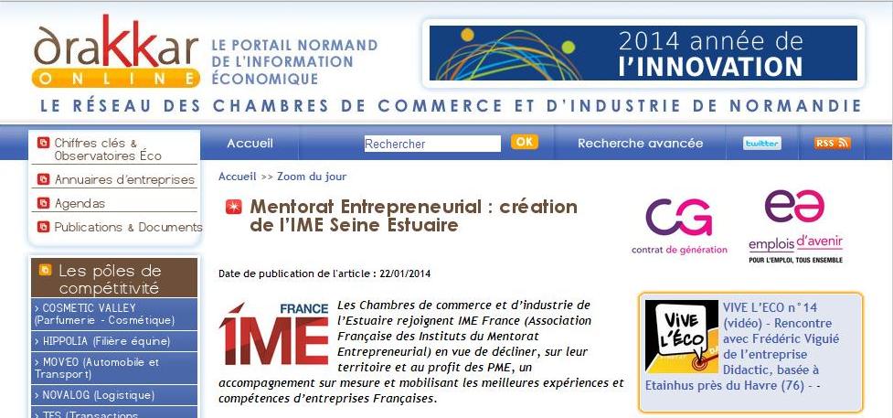 Mentorat entrepreneurial cr ation de l ime seine estuaire - Chambre de commerce et d industrie de seine et marne ...