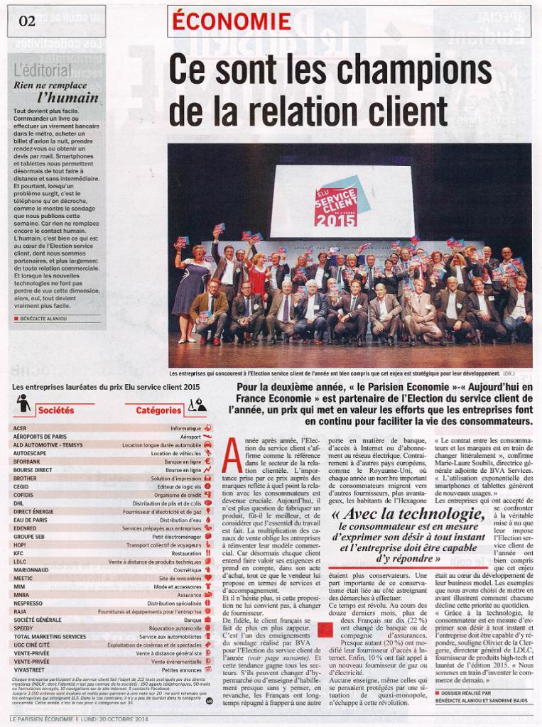 Le Parisien_Economie 20.10.2014