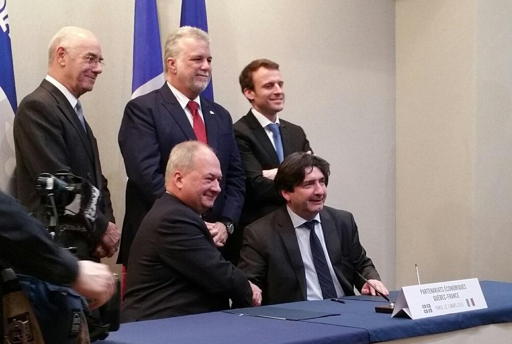 Dominique Restino Président d'IME France et Alain Aubut Président de  la CCI Québec
